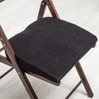 Анатомическая подушка на стул Rosava Sit 42х39 см, белый, велюр Memory Foam, 100% пэ