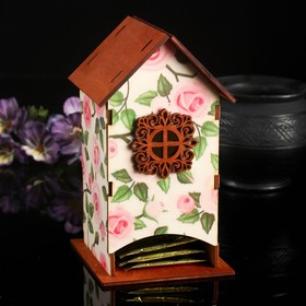 "Чайный домик ""Розы"" 10х9х18см"