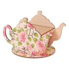 "Чайный домик ""Чайничек с цветами"" 15х8,5х10см"
