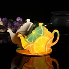 """Чайный домик """"Чайничек с цитрусами"""" 15х8,5х10см"""
