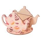 """Чайный домик """"Чайничек со сладостями"""" 15х8,5х10см"""