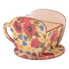 """Чайный домик Чашка с маками"""" 8х8,5х9см"""
