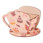 "Чайный домик Чашка со сладостями"" 8х8,5х9см"