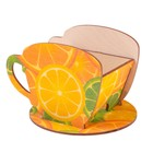 "Чайный домик Чашка с цитрусами"" 8х8,5х9см"