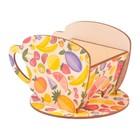 "Чайный домик Чашка с фруктами"" 8х8,5х9см"