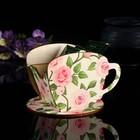 "Чайный домик Чашка с цветами"" 8х8,5х9см"