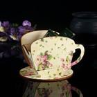 """Чайный домик Чашка с фиалками"""" 8х8,5х9см"""