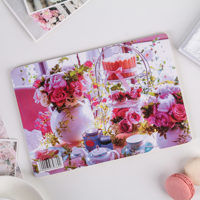 Доска разделочная «Завтрак среди роз», 23×16×0,6 см