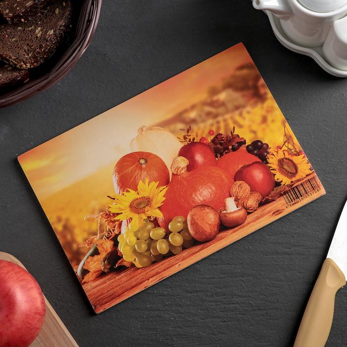 Доска разделочная «Осеннее настроение», 25×16,5×0,6 см