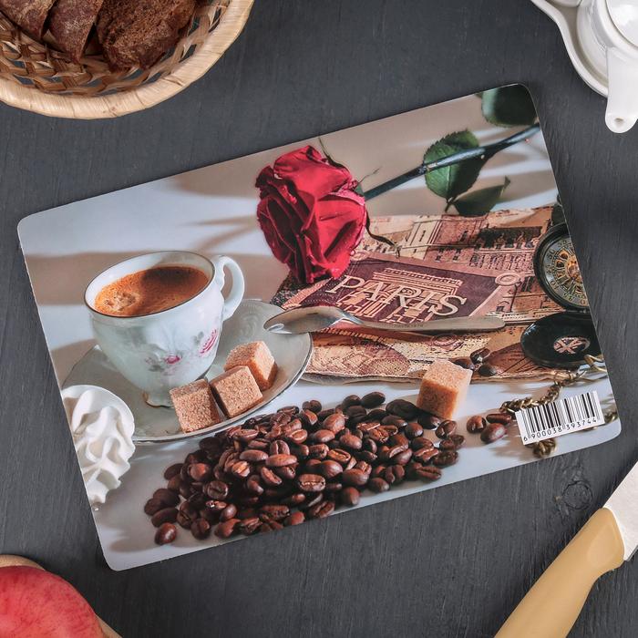 Доска разделочная «Завтрак аристократа», 23×16×0,6 см