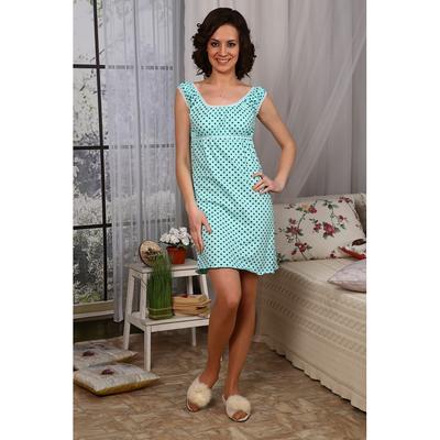 Сорочка женская № 209 цвет бирюзовый, р-р 50