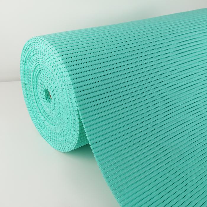 Коврик напольный ПВХ 1.3×15 м, цвет бирюзовый