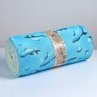 Коврик для ванной комнаты «Дельфины», 1,3×15 м, ПВХ, цвет голубой - фото 916254