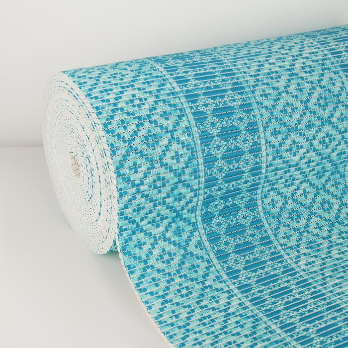 Коврик для ванной комнаты «Квадраты», 1,3×15 м, ПВХ, цвет голубой