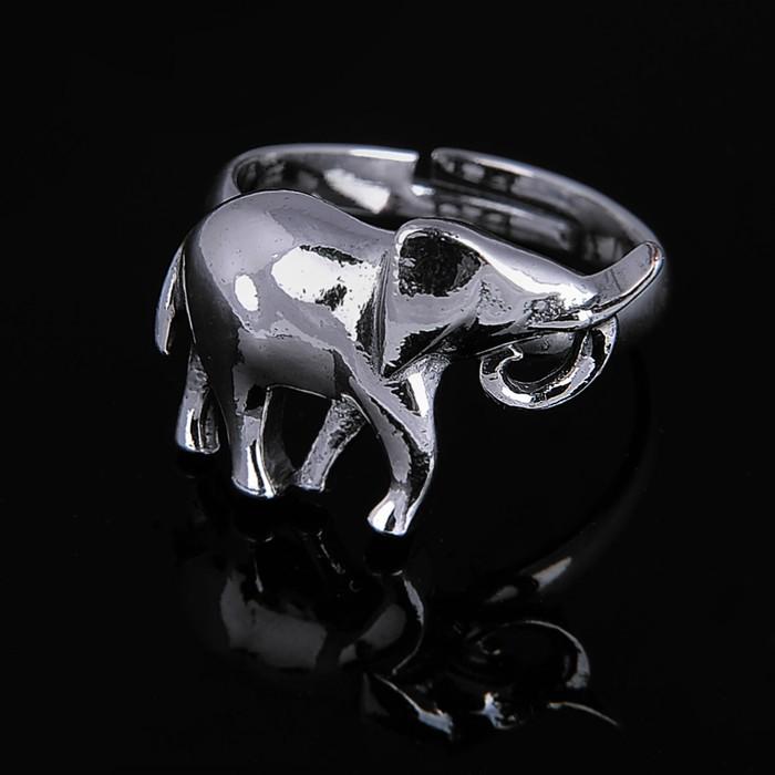 """Кольцо """"Трубач"""", цвет чернёное серебро"""