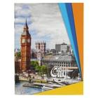 """Ежедневник недатированный А6, 96 листов """"Столицы Европы. Лондон"""", обложка мелованный картон"""