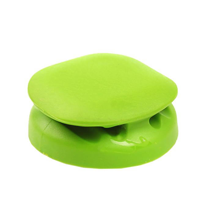 Держатель для кабелей Belsis CM1105G, утяжеленный, самоклеящийся, зеленый