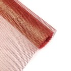 """Mesh colors large """"Scattering of sequin"""" red 48 cm x 4.5 m"""