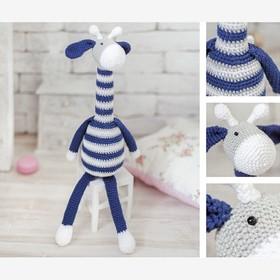 "Amigurumi: Soft toy "" ... ... miles,"" knitting, 10 × 4 × 14 cm"