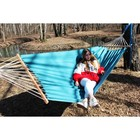 Hammock made of linen with strap turquoise RG-14