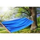 Hammock made of linen with strap blue RG-14