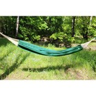 A hammock made of flax dark green RG-15
