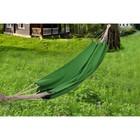 A hammock made of flax green RG-15