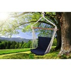 Chair hammock made of linen with foam inserts dark blue (jeans) RGK-4