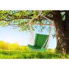 Chair hammock made of linen with foam inserts green RGK-4