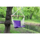 Chair hammock made of linen with foam inserts purple RGK-4