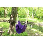 Chair hammock made of linen purple RGK-5