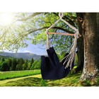 Chair hammock made of linen dark blue jeans RGK-5