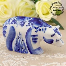 "Souvenir ""Bear"", small, Gzhel, h=6 cm"