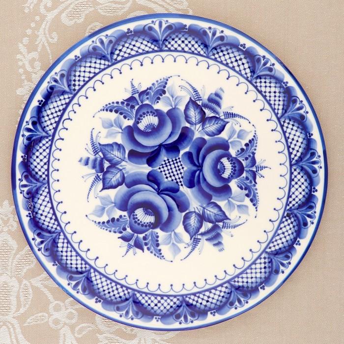 Картинки тарелок гжель