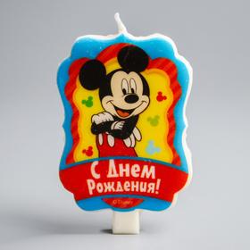 """Свеча в торт Дисней """"С Днем Рождения"""", Микки Маус"""