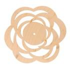 "Основа для часов ""Роза"" №11  из фанеры 25х25 см LH011773"
