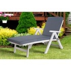Подушка-сидушка для шезлонга Linen Way, цвет серый
