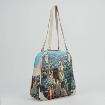 """Сумка-рюкзак женская """"Мегаполис"""", отдел на молнии, ручки-трансформер"""