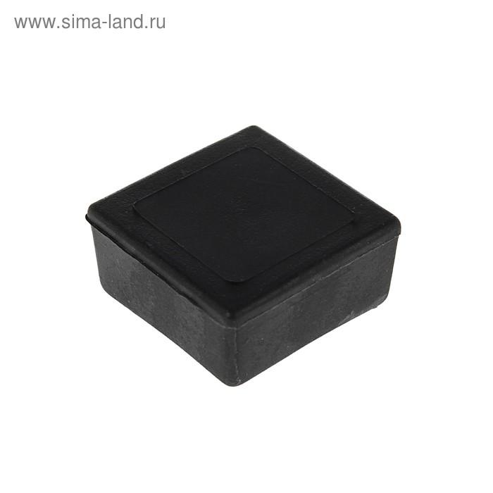 Заглушка наружная 30х30 мм, черная