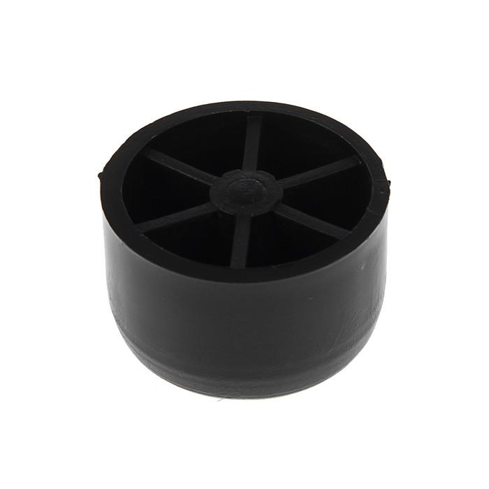 Опора под шуруп №1, h=25 мм, d=38 мм, черная