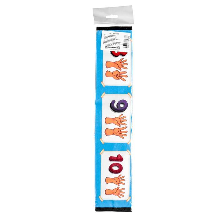 Накидка-незапинайки Счет-пальчики, пвх, 61 х 46 см