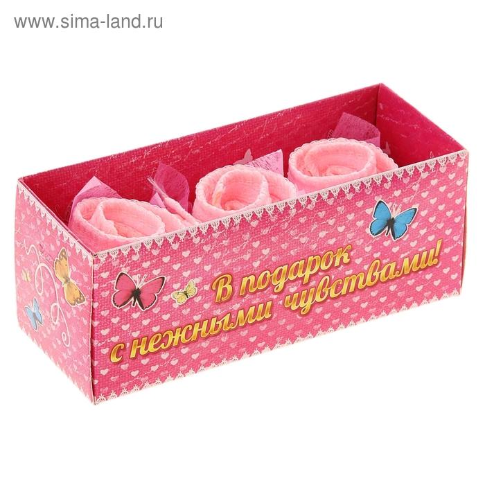 Набор сувенирных полотенец Розочка 20х20 см - 3 шт., МИКС