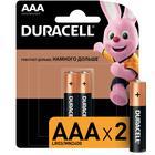 Батарейка алкалиновая Duracell Basic, AAA, LR03-2BL, 1.5В, блистер, 2 шт. - фото 7502