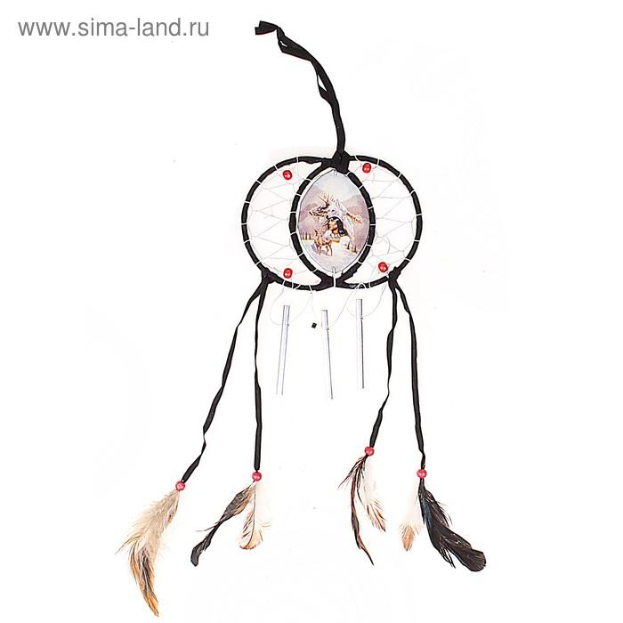 """Ловец снов с музыкой ветра """"Индеец с оленями"""""""