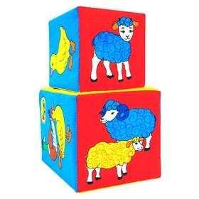 Набор развивающих мягких кубиков 'Чей детёныш?' Ош