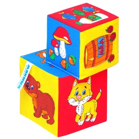 Набор развивающих мягких кубиков 'Чьё лакомство?' Ош
