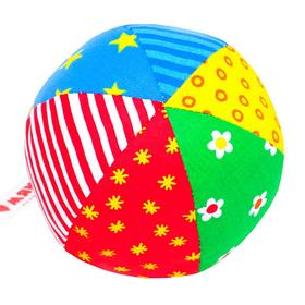 Мягкая погремушка 'Мяч Радуга', цвета МИКС Ош
