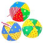 Развивающий мягкая погремушка «Мяч Радуга», цвета МИКС - фото 105533334