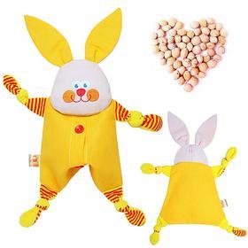 Развивающая игрушка с вишнёвыми косточками «Заинька. Доктор мякиш»