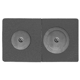 Плита ПС2-3А сборная Рубцовск 710х410х15 мм с оребренными конфорками
